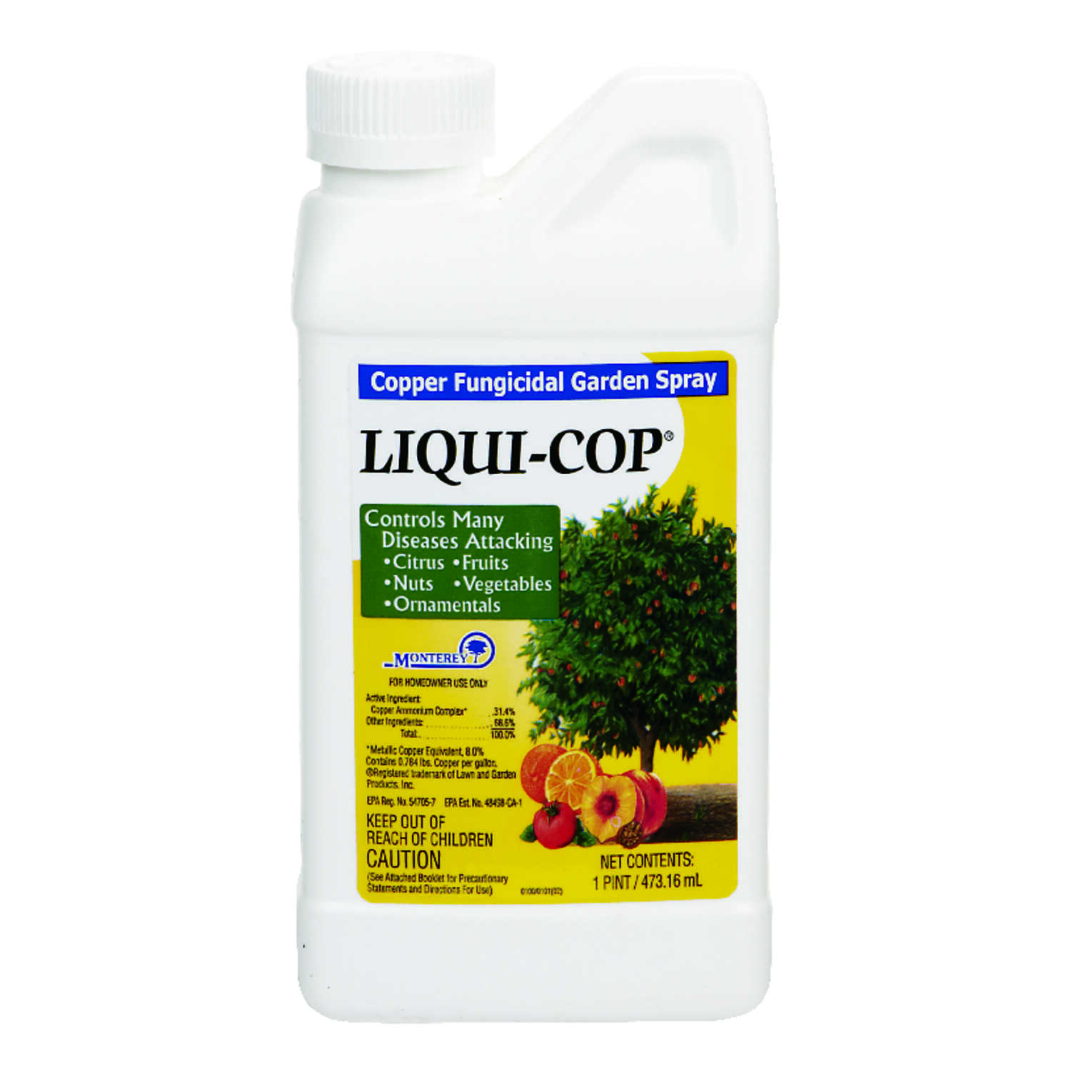 Monterey  Liqui-Cop  Concentrated Liquid  Fungicide  16 oz.