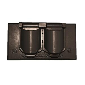 Sigma Electric  Rectangle  Metal  1 gang Horizontal Duplex Cover  For Wet Locations