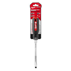 Milwaukee  5/16 in.  x 6 in. L Slotted  Cushion Grip  Screwdriver  1 pc.