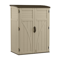 Suncast  Beige  Plastic  Vertical  Storage Shed  Yes