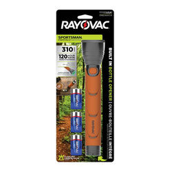 Rayovac  Sportsman Essentials  310 lumens Orange  LED  Flashlight  C Battery