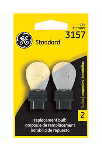 GE Miniature Lamps 3157-BP For Turn Signal, Stop, Tail and Parking 12 volts 2 Carded