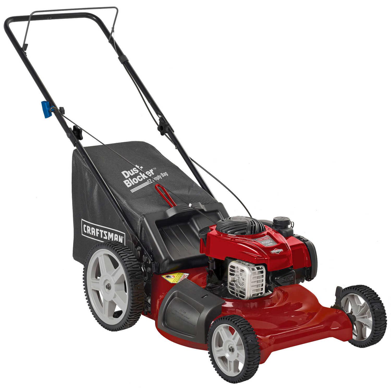 Craftsman 21 in  W 140 cc Manual-Push Mulching Capability Lawn Mower