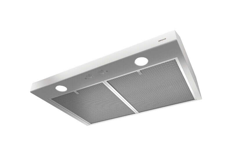 Broan  Glacier  29-7/8 in. W White  Range Hood