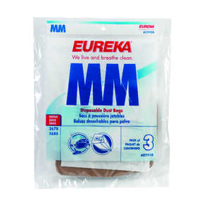 Eureka  Vacuum Bag  For For use with Mighty Mite vacuum Ace No. 1009174 (mfg# 3670F) 3 pk