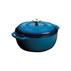 Lodge Logic Cast Iron Dutch Oven 10.5 in. 6 Blue