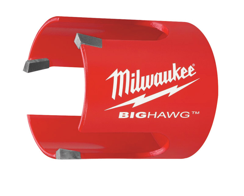 Milwaukee  BIG HAWG  2-1/8 in. Dia. x 2-1/4 in. L Bi-Metal  Carbide Tipped  Hole Saw  1/4 in. 1 pc.