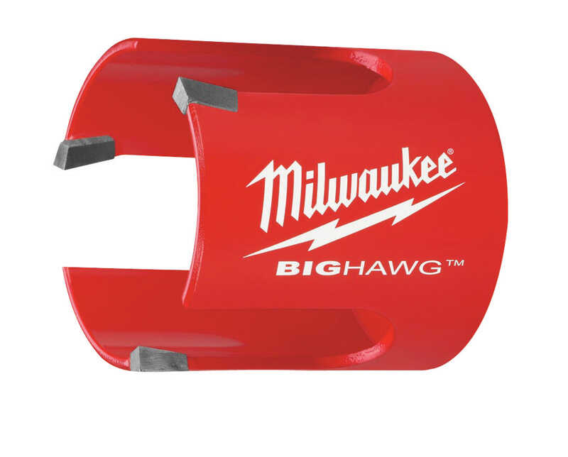 Milwaukee  BIG HAWG  2-1/8 in. Dia. x 2-1/4 in. L Bi-Metal  Hole Saw  1/4 in. 1 pc. Carbide Tipped