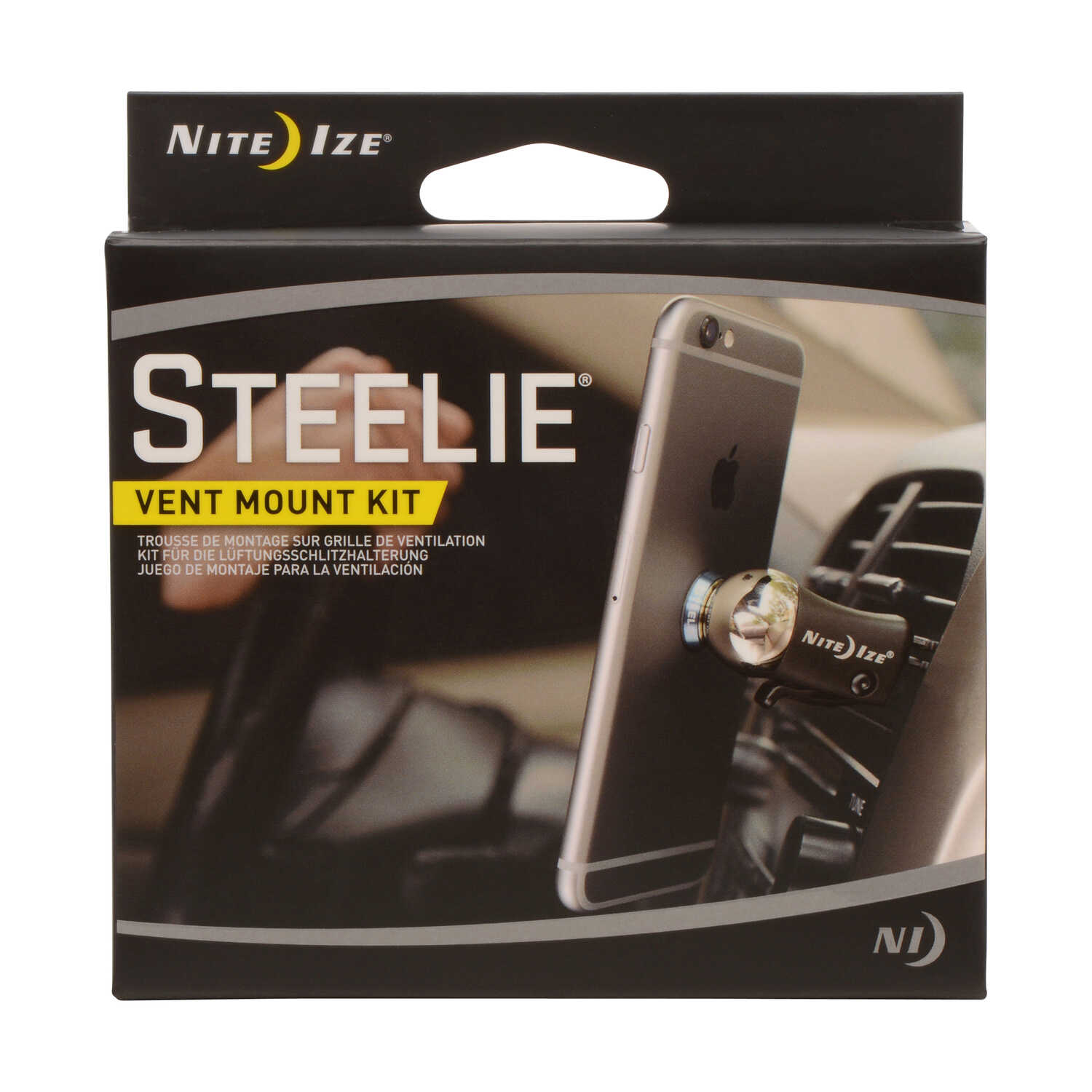 Nite Ize  Steelie  Black/Silver  Cell Phone Car Vent Mount  For Universal