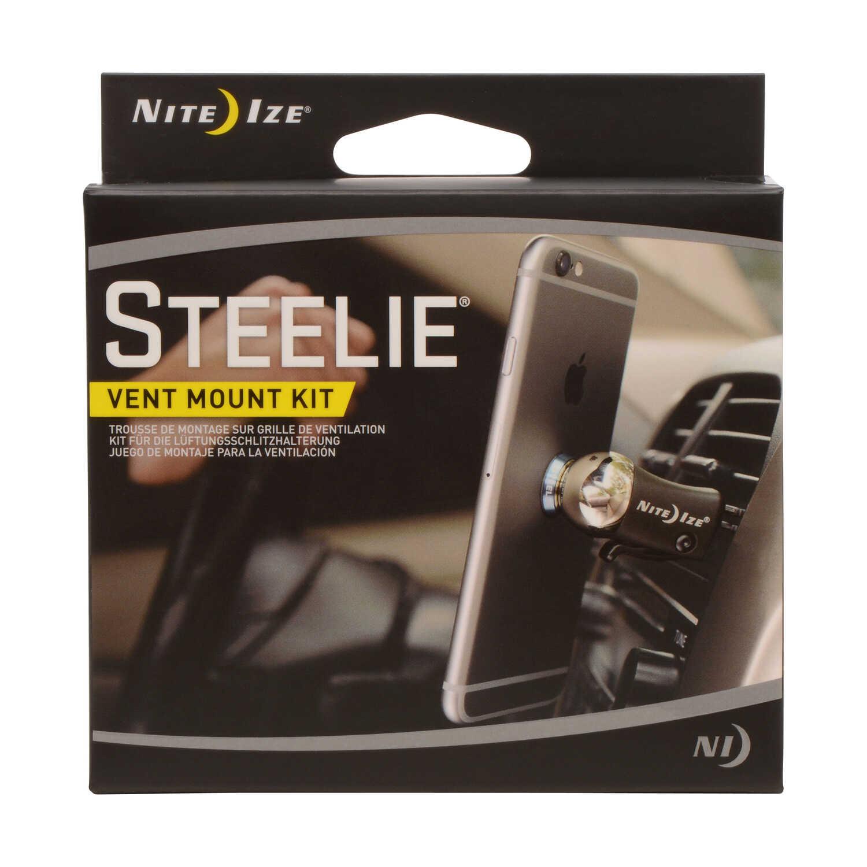 Nite Ize Steelie Black Silver Cell Phone Car Vent Mount