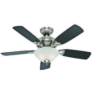 Ceiling fans and ceiling fans with lights at ace hardware hunter fan caraway 44 in 5 blade indoor brushed nickel ceiling fan aloadofball Choice Image
