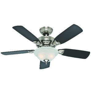 Hunter Fan Caraway 44 In 5 Blade Indoor Brushed Nickel Ceiling