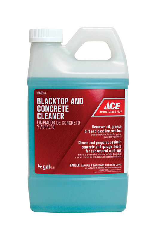 Ace  1/2 gal. Liquid  Blacktop And Concrete Cleaner