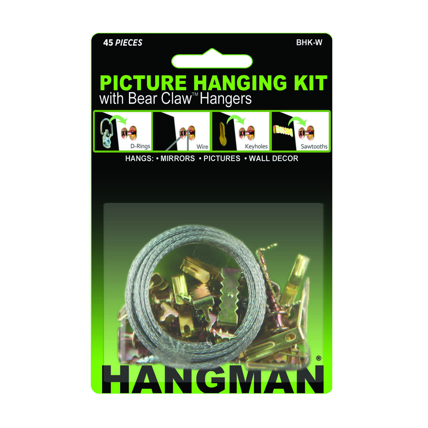 Hangman  Hanger  100 lb. Picture Hanging Kit  45 pc.
