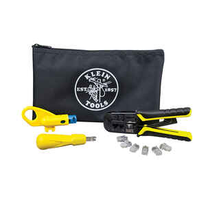 Klein Tools  12.50 in. L Black  Twisted Pair Installation Kit