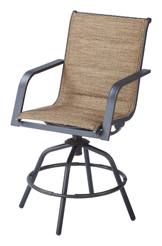 Living Accents  Brown  Aluminum  Palermo  Swivel Chair