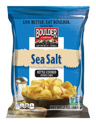 Boulder Canyon  Sea Salt  Kettle Cooked Potato Chips  2 oz. Pegged