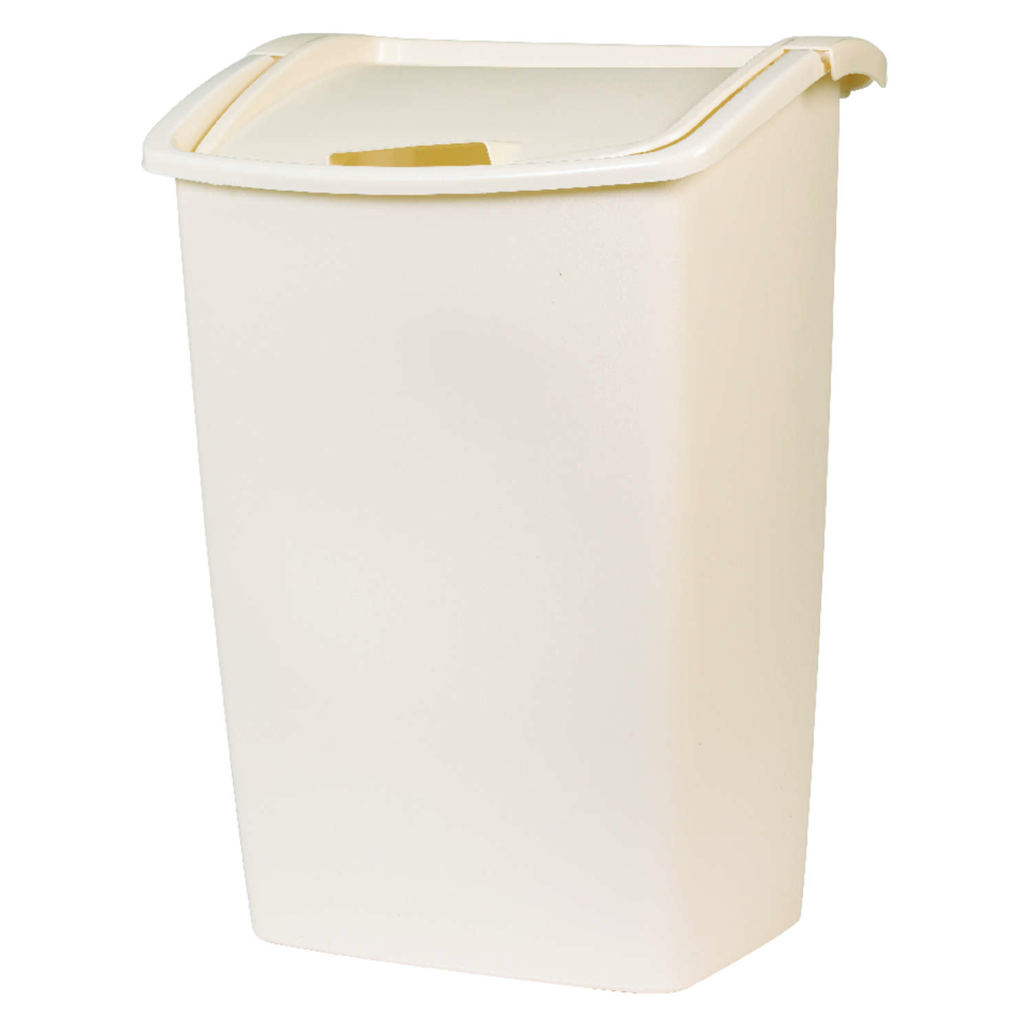 Rubbermaid  11.25 gal. Bisque  Swing-Out  Wastebasket