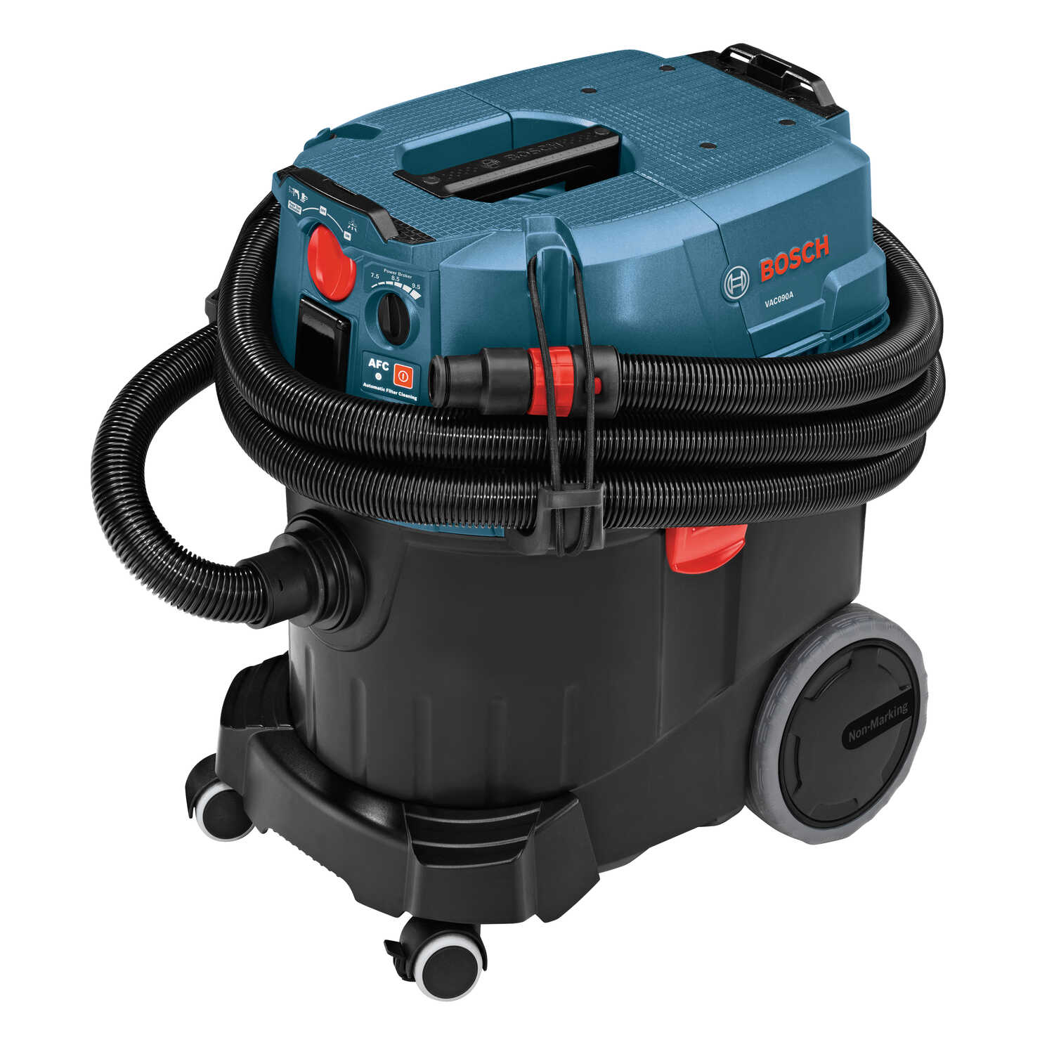 Bosch  9 gal. Corded  Dust Extractor with Auto Filter Clean  120 volt Teal/Red  28 lb. 1 pc.