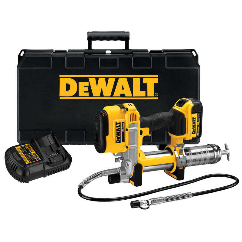 DeWalt  Polypropylene/Stainless Steel  Cordless Electric  Grease Gun