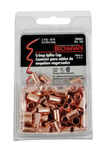 Buchanan  Insulated Wire  Splice Caps  Copper  100 pk