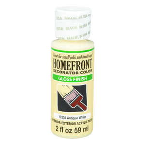Homefront  Decorator Color  Gloss  Acrylic Latex  Antique White  2 oz. Hobby Paint
