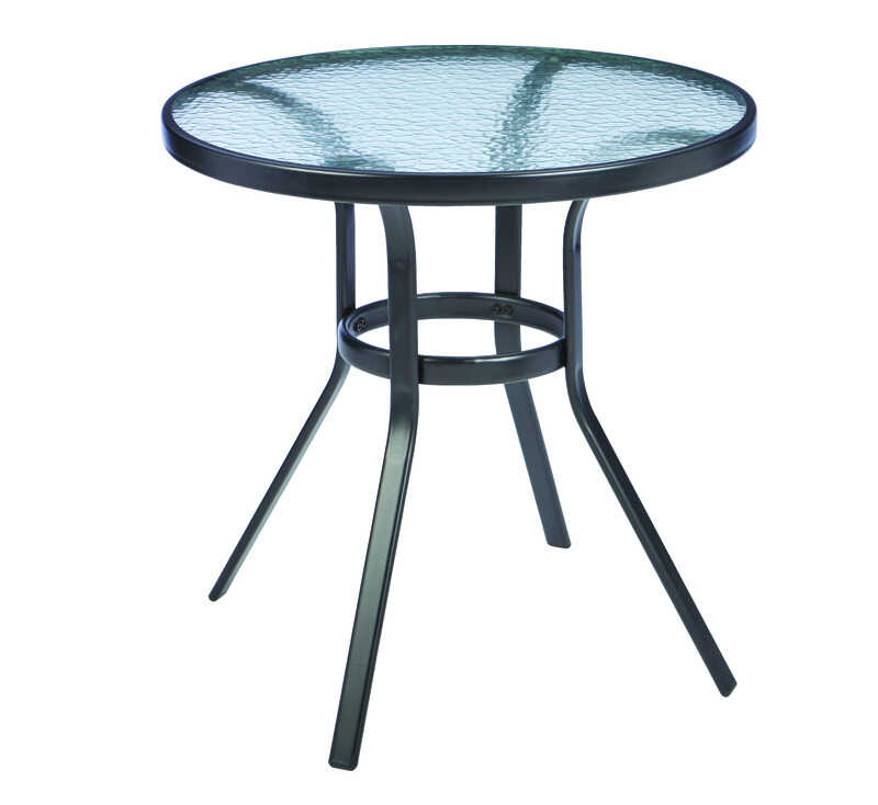 Living Accents  Fairview  Black  Table  Round