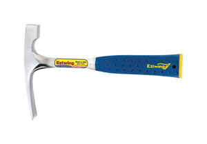 Estwing  20 oz. Brick Layer's Hammer  Forged Steel Head Forged Steel Handle  1 in. Dia. x 11.25 in.