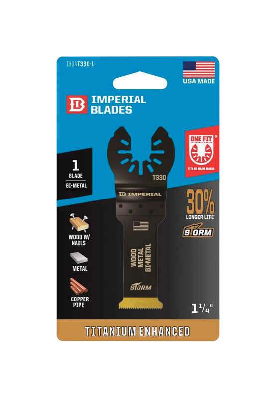 Imperial Blades  OneFit  1-1/4 in. Dia. Titanium-Coated Bi-Metal  Oscillating Saw Blade  1 pk
