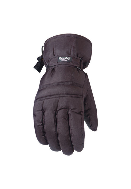 Wells Lamont  L  Ski Gloves  Black