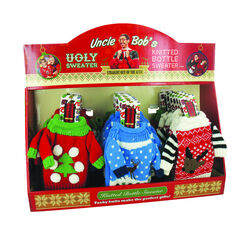 Uncle Bob's  Christmas  Ugly Bottle Sweater  Polyester  1 pk