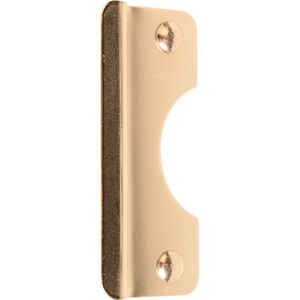 Prime-Line  6 in. H x 2.625 in. L Brass-Plated  Steel  Latch Shield