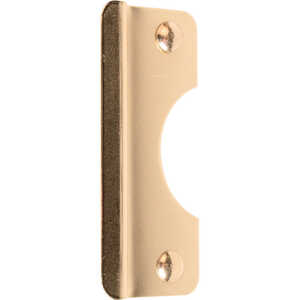 Tell Latch Shield Entry 0.75 2-5/8 in. x 6 in. Brass Plated Steel Protects Out Swing Door from Force