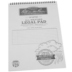 Rite In The Rain  All-Weather Legal Pad  8-1/2 in. W x 11 in. L Wire-O  Notebook