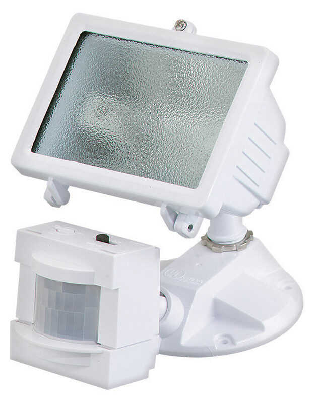 Heath Zenith  Motion-Sensing  Hardwired  Halogen  White  Area Light