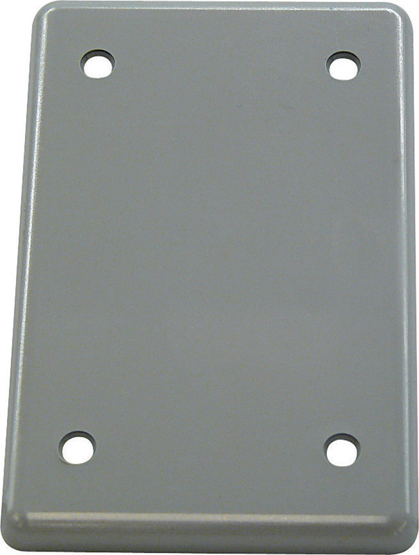 Cantex  Rectangle  PVC  1 gang Electrical Cover  For Single Gang FS Type Box