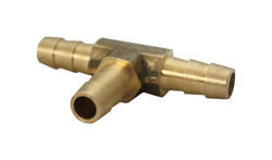 JMF  Brass  3/8 in. Dia. x 3/8 in. Dia. Tee Connector  1 pk Yellow