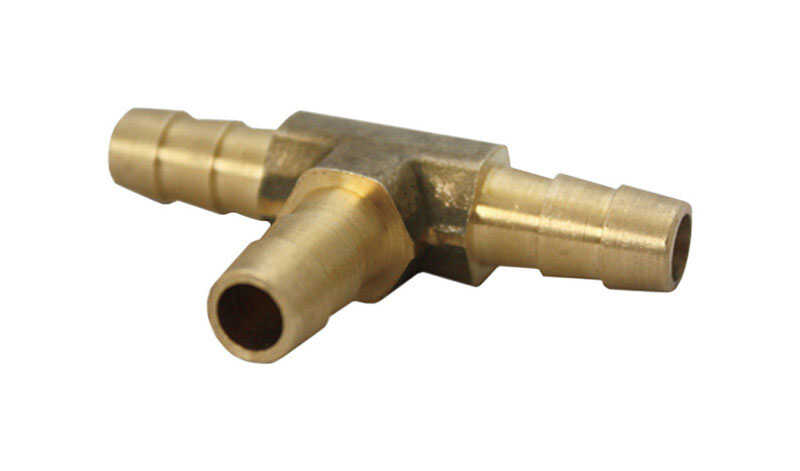 JMF  Brass  Tee Connector  3/8 in. Dia. x 3/8 in. Dia. Yellow  1 pk