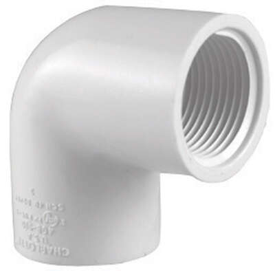 Charlotte Pipe  Schedule 40  1-1/4 in. FPT   x 1-1/4 in. Dia. FPT  PVC  Elbow