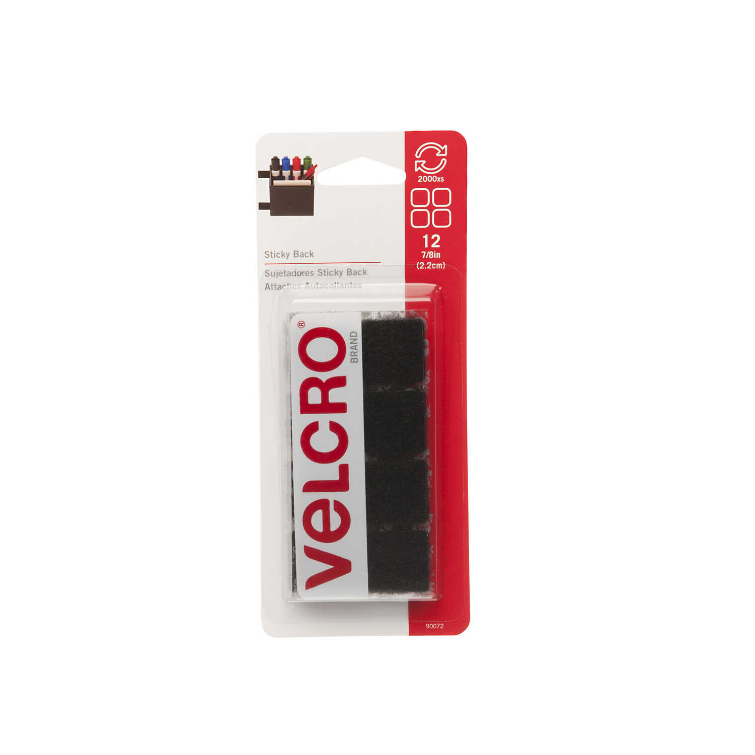 Velcro  7/8 in. L 12 pk Hook and Loop Fastener