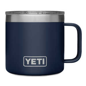 YETI  Rambler  Navy  Stainless Steel  Thermal Mug  BPA Free 14 oz.
