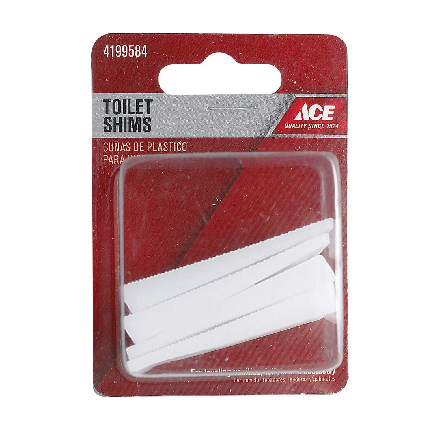 Ace  Toilet Shims  Plastic