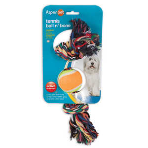 Booda  Rope Bone and Ball  Cotton  Multicolored  Medium  Dog Toy