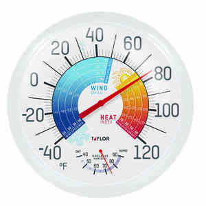 Taylor  Wind Chill and Heat Index  Dial Thermometer  Multicolored  Plastic
