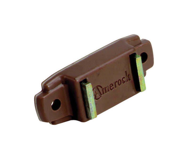Amerock  3/4 in. W x 1-15/16 in. L Brown  Plastic  Magnetic Catch  1