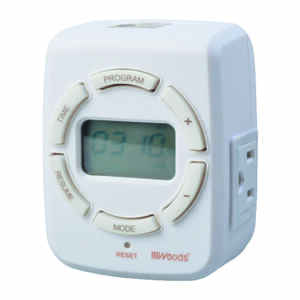 Woods  Indoor  7 Day Digital Astronomical Timer  125 volt White