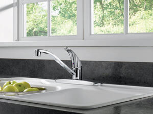 Peerless  Core  One Handle  Chrome  Kitchen Faucet