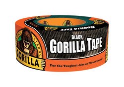 Gorilla  1.88 in. W x 12 yd. L Black  Duct Tape