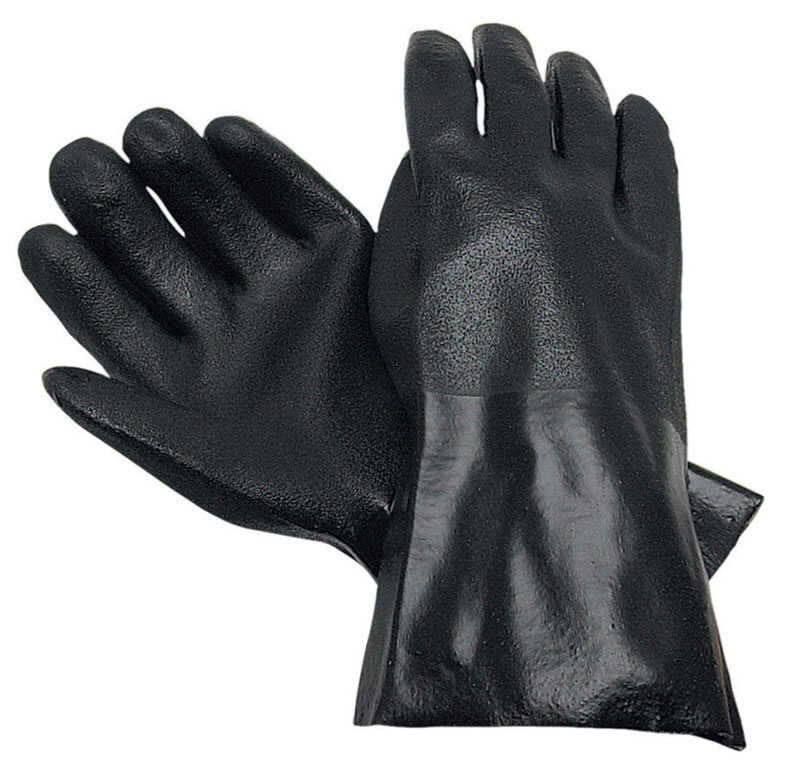 MCR Safety  Unisex  PVC  Dipped  Work Gloves  Black  L  12 pk