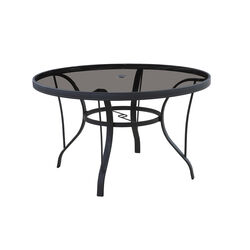 Living Accents Roscoe Round Black Glass Dining Table